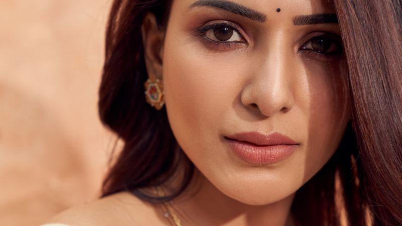Samantha, Indian actress, Telugu Actress, Beautiful actress, Portrait, Wallpaper
