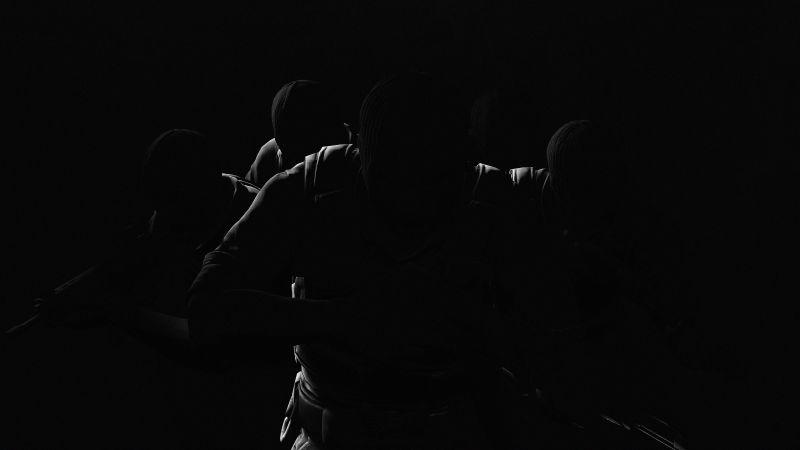 CS GO, Counter-Strike: Global Offensive, Phoenix Team, Phoenix Connection, Black background, Pitch Black, Wallpaper