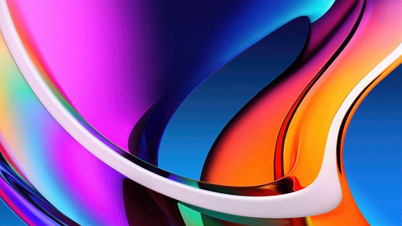 Apple iMac, Colorful, Stock, Retina Display, Gradients, Aesthetic, 5K, 8K, Wallpaper