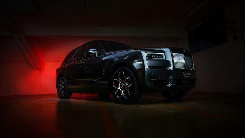Rolls-Royce Cullinan Black Badge, 2020, Black, Dark, 5K, 8K, Wallpaper