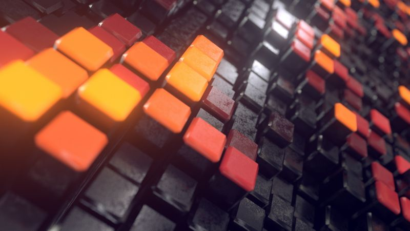 Squares, 3D background, Blocks, Macro, Wallpaper