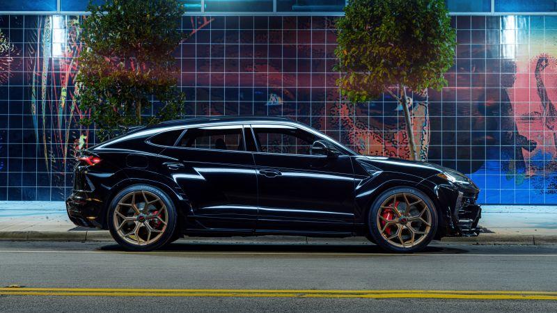 Lamborghini Urus, Black cars, 5K, 8K, Wallpaper