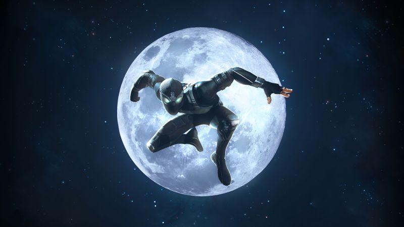 Spider-Man, Night Monkey, MARVEL Contest of Champions, Moon, Wallpaper