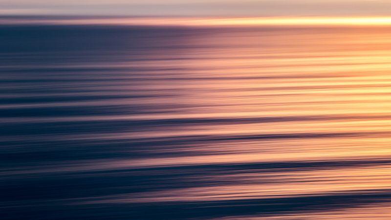 Seascape, Waves, Sunset, Ocean, Pattern, 5K, Wallpaper
