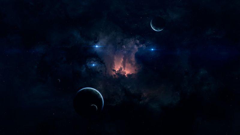 Planets, Stars, Astronomy, Galaxy, Cosmos, Wallpaper