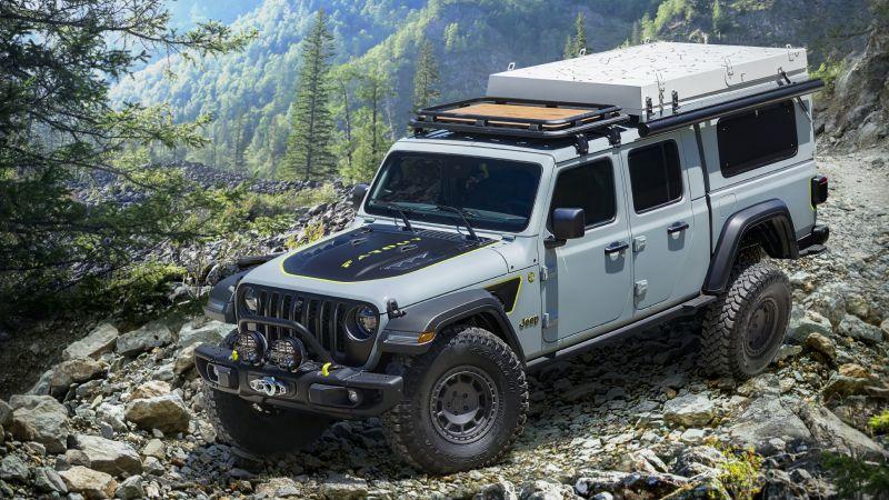 Jeep Gladiator Farout Concept, Off-roading, 2020, Wallpaper