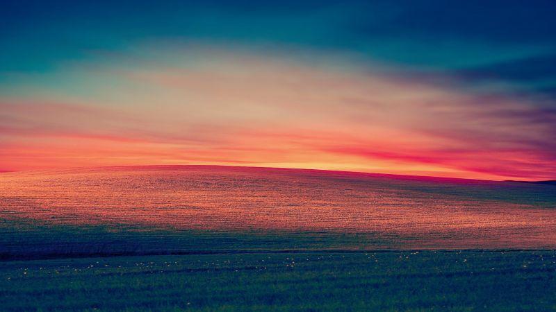 Windows XP, Landscape, Hills, Morning, Day light, Stock, Aesthetic, Wallpaper