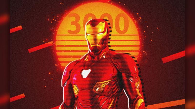 Iron Man, Marvel Superheroes, I Love You 3000, Artwork, Fan Art, Wallpaper