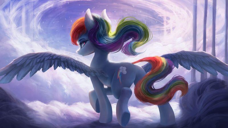 Rainbow Dash, Pegasus pony, My Little Pony Friendship is Magic, Wallpaper