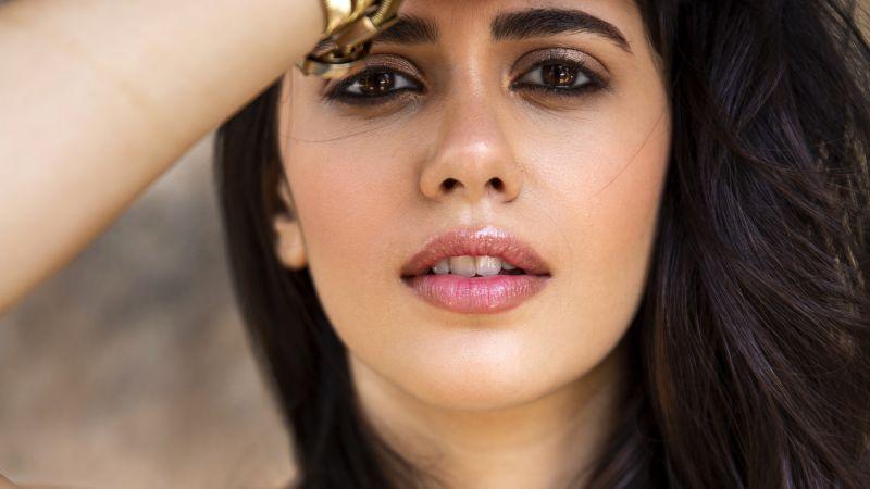 Sanjana Sanghi, Portrait, Beautiful actress, Bollywood actress, Dil Bechara actress, Indian actress, Wallpaper