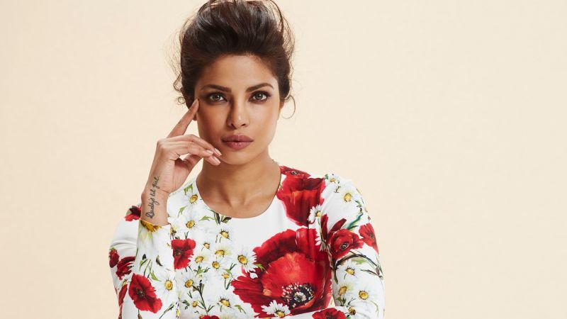 Priyanka Chopra, Portrait, Beautiful actress, Bollywood actress, Indian actress, Wallpaper