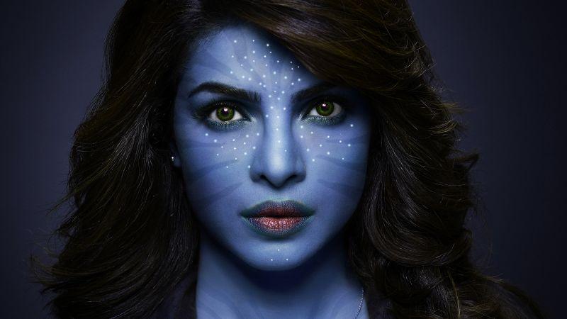 Priyanka Chopra, Indian actress, Avatar, CGI, Portrait, Bollywood actress, Wallpaper