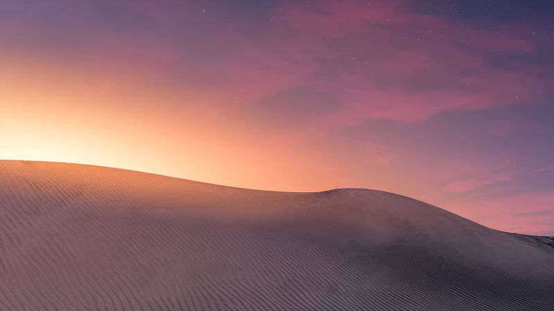Desert, Sand, Canary Islands, Spain, Sunlight, Stars, Landscape, 5K, Wallpaper