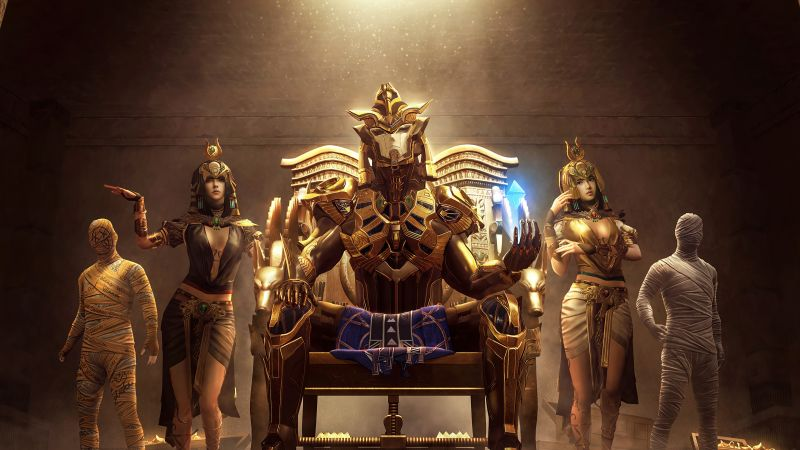 PUBG MOBILE, Golden Pharaoh X-Suit, PlayerUnknown's Battlegrounds, Outfit, Wallpaper