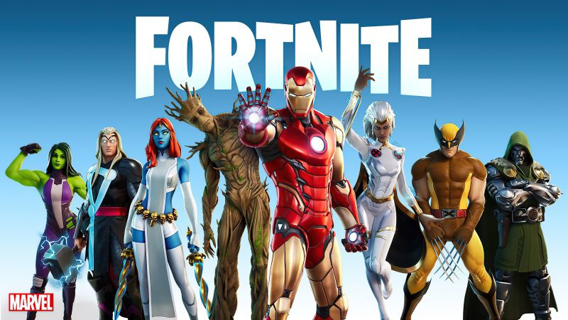 Fortnite, Season 4, Nexus War, Marvel Superheroes, Crossover, Wallpaper