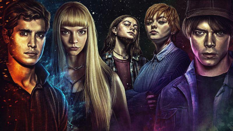 The New Mutants, Maisie Williams, Anya Taylor-Joy, Charlie Heaton, Henry Zaga, Blu Hunt, Marvel Superheroes, 5K, Wallpaper