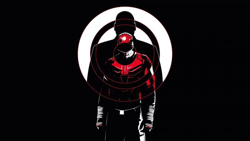 Daredevil, DC Comics, DC Superheroes, AMOLED, Black background, Wallpaper