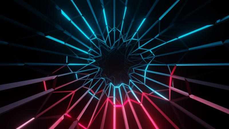 Electric, Neon, Colorful, Dark background, Lighting, Wallpaper