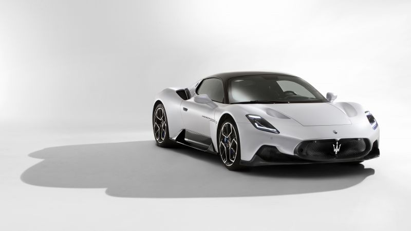 Maserati MC20, Sports cars, White background, 2021, 5K, 8K, Wallpaper