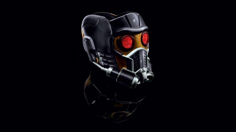 Star-Lord, Black background, Marvel Superheroes, Marvel Comics, 5K, Wallpaper