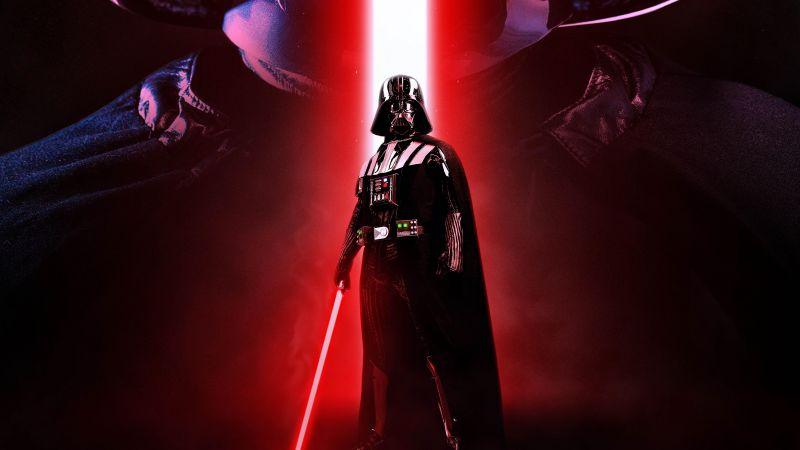 Darth Vader, Sith lightsaber, Star Wars, 5K, Wallpaper