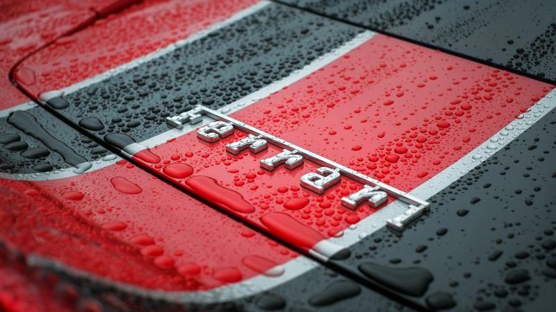 Ferrari, Logo, Emblem, Droplets, 5K, Wallpaper
