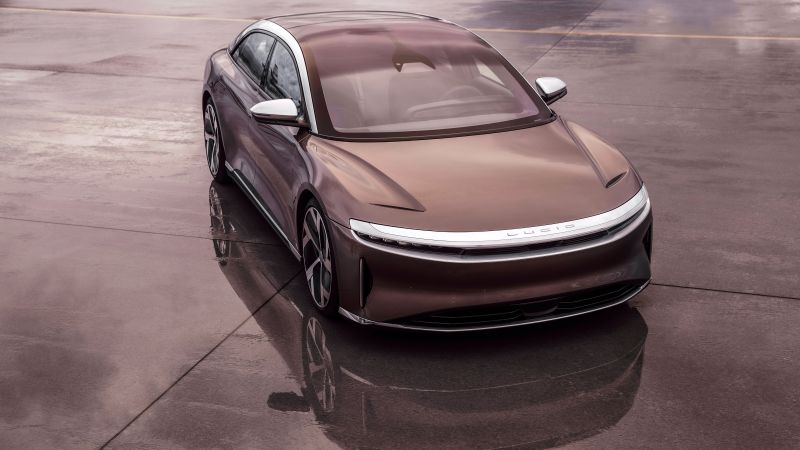 Lucid Air, Electric cars, Luxury cars, 2021, 5K, Wallpaper