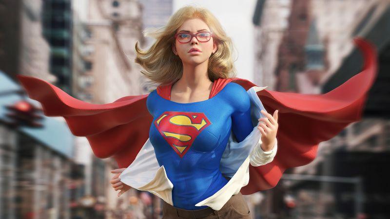 Supergirl, CGI, DC Comics, Wallpaper