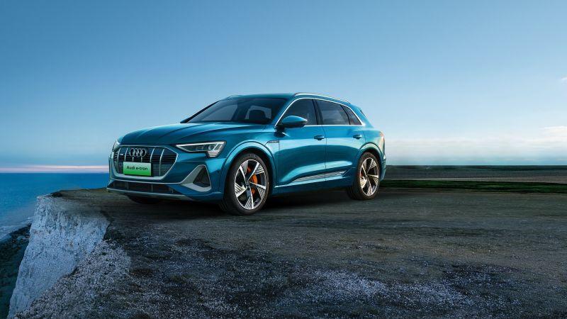 Audi e-tron 55 quattro S line, 2020, Wallpaper