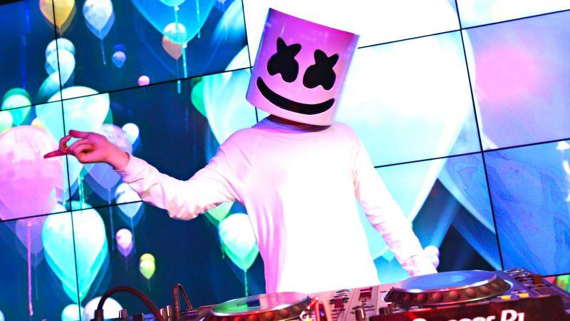 Marshmello, American DJ, Live concert, Wallpaper