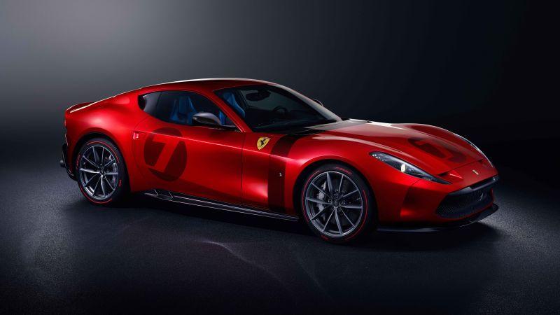 Ferrari Omologata, Supercars, Dark background, 2020, 5K, 8K, Wallpaper