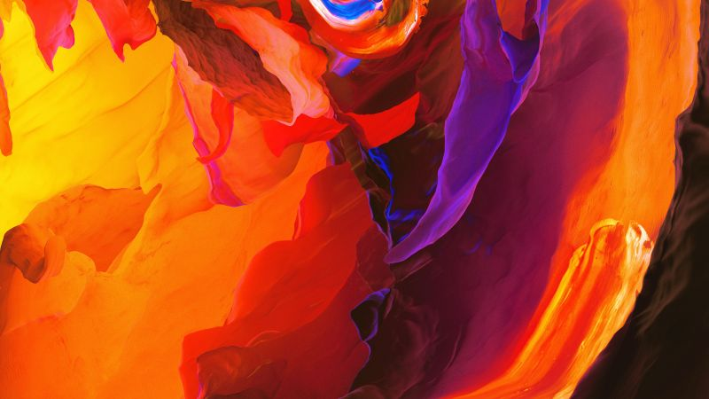 Fire, Lower Antelope Canyon, Paranoid Android, Stock, Calidity, 5K, 8K, Wallpaper