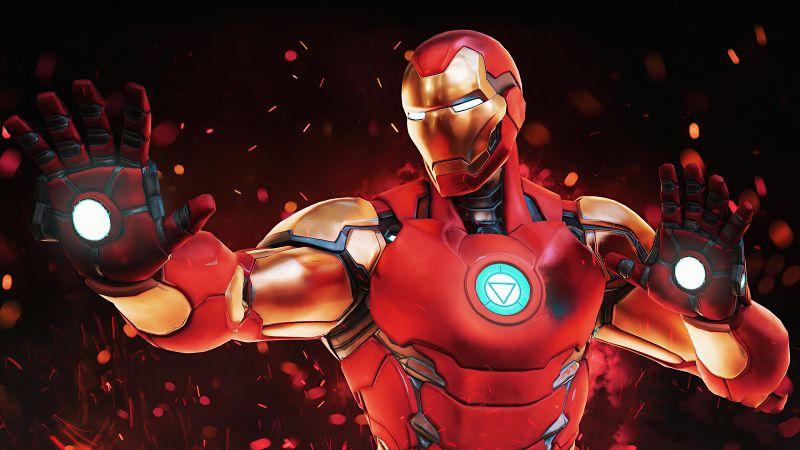 Iron Man, Fortnite, Marvel Comics, 2020, Wallpaper