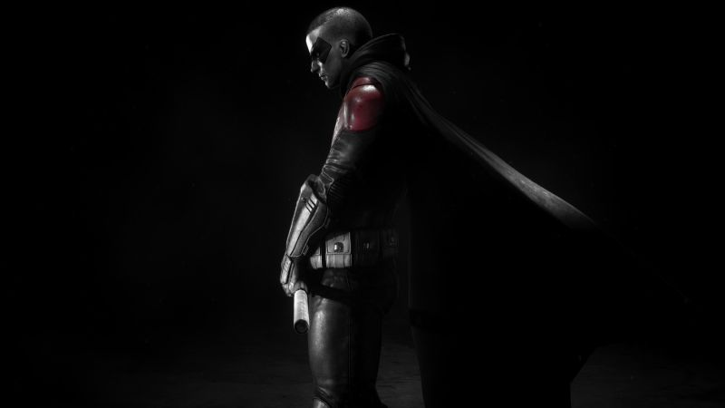 Robin, DC Comics, DC Superheroes, Black background, Wallpaper