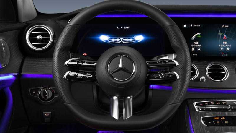 Mercedes-Benz E 350 L AMG Line, Interior, Cockpit, 2020, 5K, Wallpaper