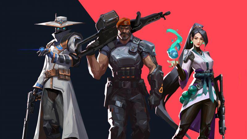 Cypher, Brimstone, Sage, Valorant, PC Games, 2020 Games, Wallpaper