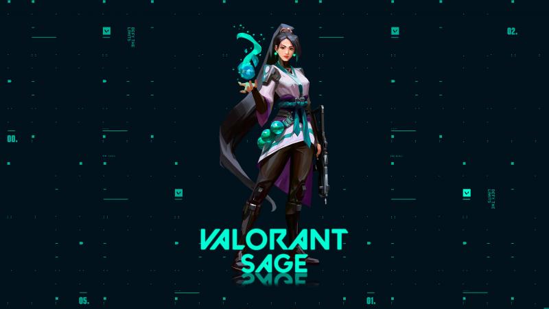 Sage, Valorant, PC Games, 2020 Games, Wallpaper