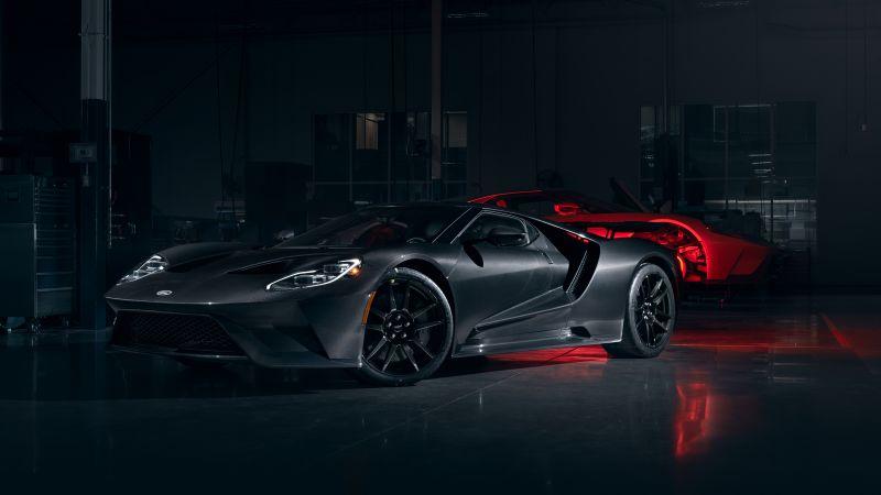 Ford GT, Liquid Carbon, Carbon Fiber, 2020, Dark, Wallpaper