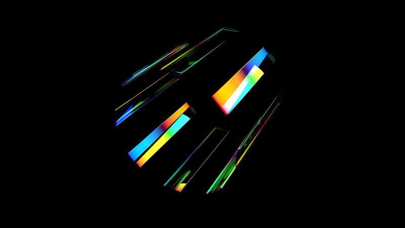 Glass, Spectrum, Colorful, 5K, AMOLED, Wallpaper