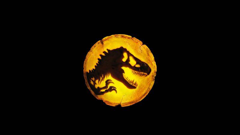 Jurassic World: Dominion, 2022 Movies, Black background, 5K, Wallpaper