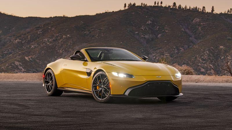 Aston Martin Vantage Roadster, Sports cars, 2021, 5K, 8K, Wallpaper