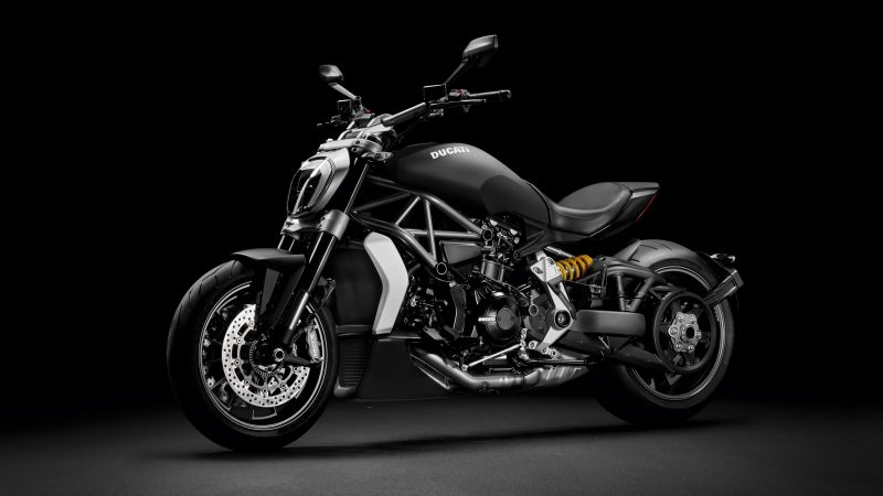 Ducati XDiavel, Cruiser motorcycle, Dark background, Wallpaper