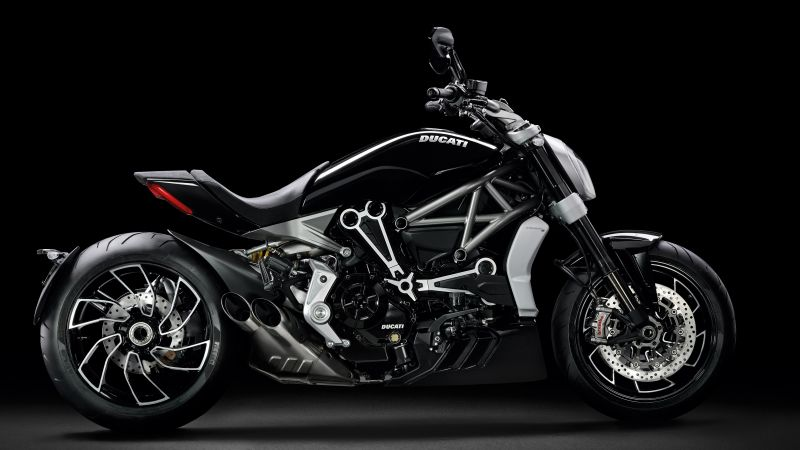 Ducati XDiavel S, Cruiser motorcycle, Dark background, Wallpaper