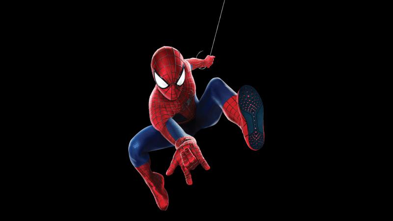 Spider-Man, Marvel Superheroes, Black background, Wallpaper