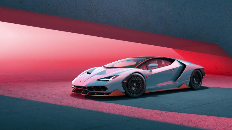 Lamborghini Centenario, CGI, Supercars, Wallpaper