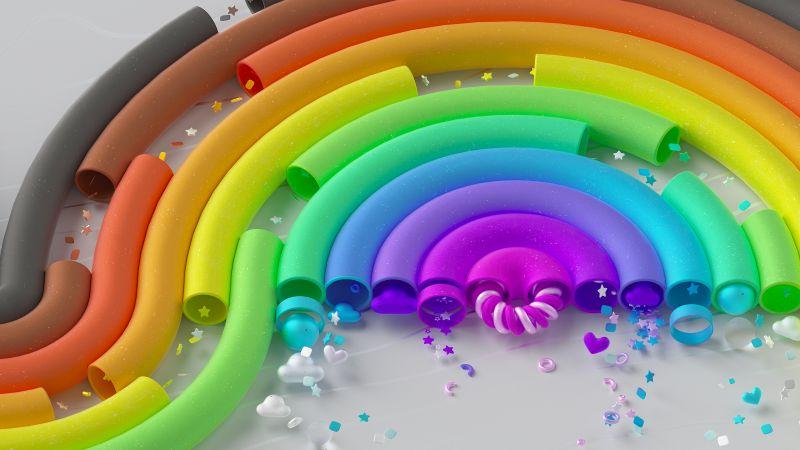 Microsoft Pride, Microsoft Design, Rainbow, Colorful, Spectrum, Wallpaper