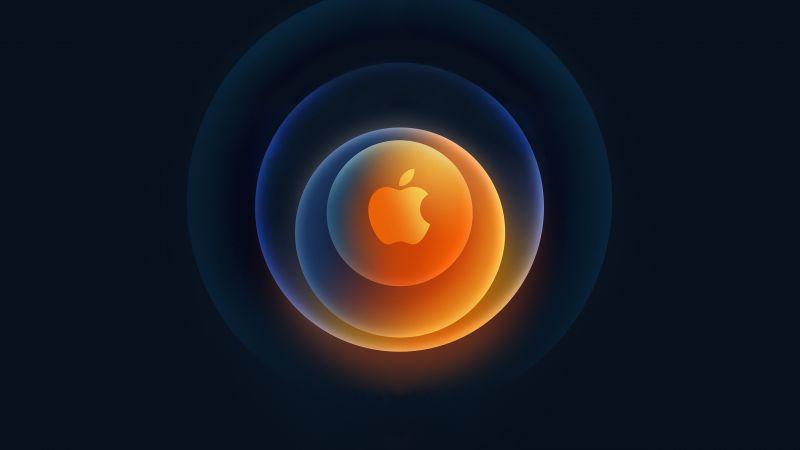 Apple, iPhone 12, Event, 2020, Apple logo, Dark background, Wallpaper
