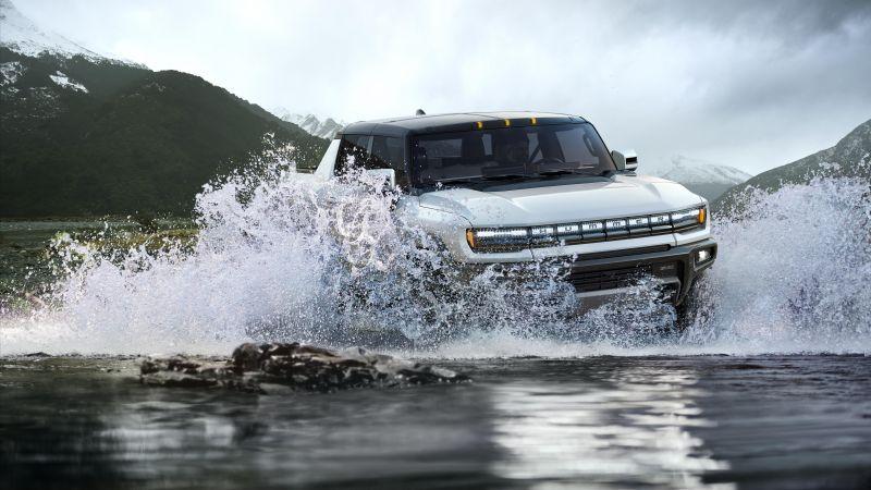 GMC Hummer EV, Electric trucks, 2022, 5K, Wallpaper