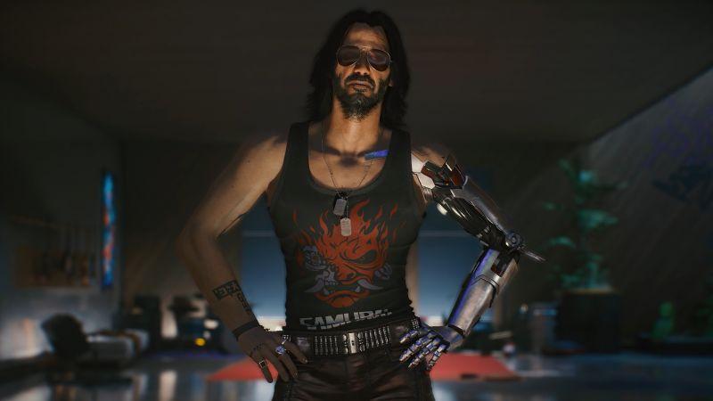 Johnny Silverhand, Cyberpunk 2077, Keanu Reeves, 2020 Games, Wallpaper