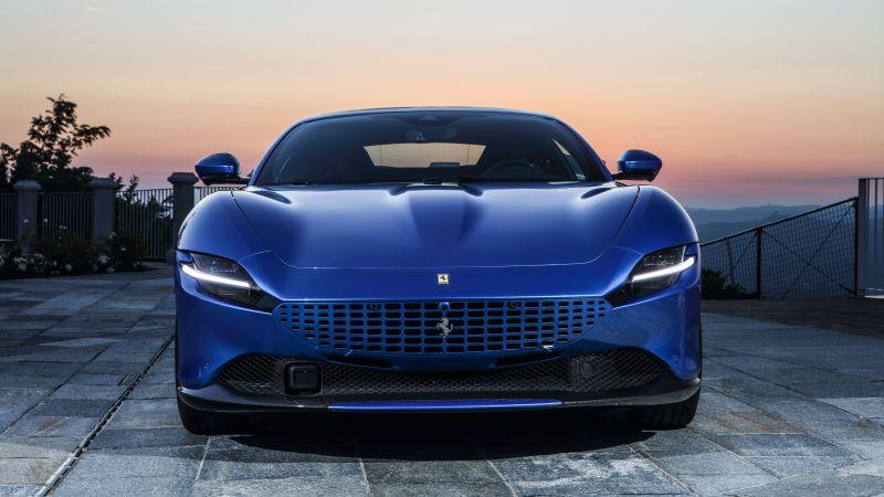 Ferrari Roma, Sports cars, 2021, 5K, 8K, Wallpaper